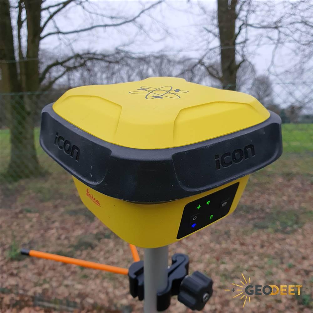 Leica iCON iCG70T GPS met tilt sensor GNSS ontvanger detail Geodeet meetexpert Belgie